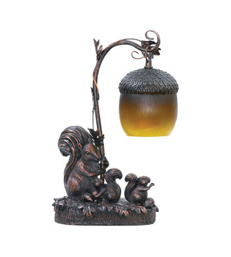 Sterling Industries Squirrel Acorn Mini Accent Table Lamp