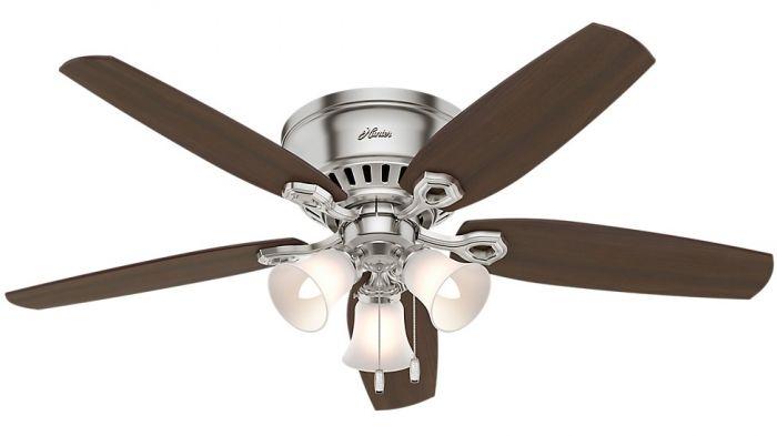 Hunter Builder 52 Quot Indoor Low Profile Ceiling Fan In