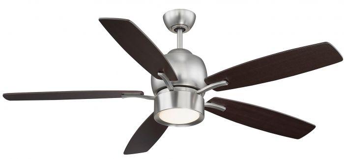 "Savoy House Girard 52"" 5-Blade Ceiling Fan in Satin Nickel"