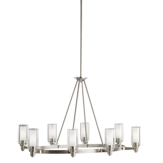 "Kichler Circolo 8-Light 25"" 1-Tier Large Chandelier in Brushed Nickel"