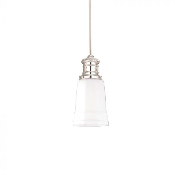 "Hudson Valley Lighting Bradford: Hudson Valley Bradford 5"" Matte Opal Glass Pendant In"