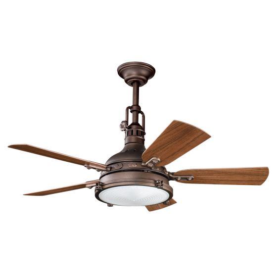 "Kichler Hatteras Bay Patio 44"" Ceiling Fan in Weathered Copper"