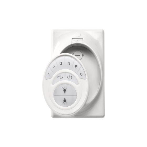 "Kichler 5.5"" 6 Speed Transmitter in White"