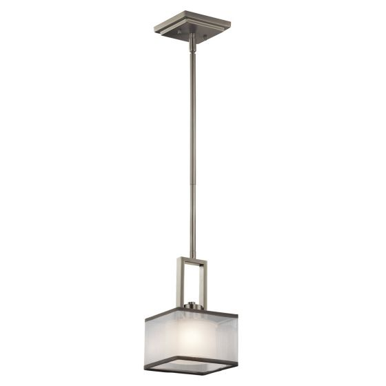 Kichler Kailey 1-Light Mini Pendant in Brushed Nickel