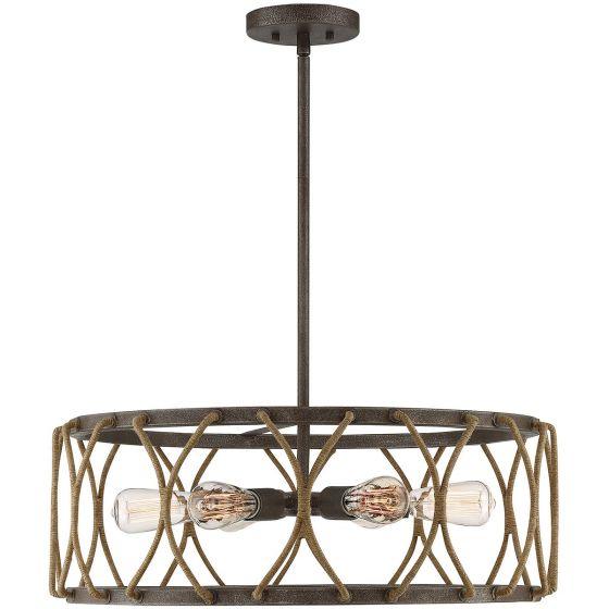 "Savoy House Keating 25"" 6-Light Pendant in Artisan Rust"