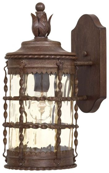"The Great Outdoors Mallorca 16"" Outdoor Wall Light in Vintage Rust"