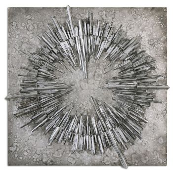 "Uttermost Nebulus 37"" Wall Art in Silver"