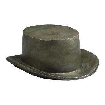 """Cyan Design Hat Token 8.5"""" Cast Iron Sculpture in Pewter"""