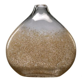"Cyan Design Russet 12"" Glass Vase in Russet/Gold Dust"