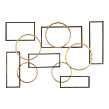 "Uttermost Elias 60.25"" Wall Art in Brushed Bronze/Gold Leaf"