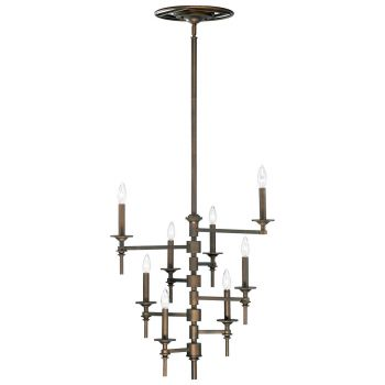 "Cyan Design Omega 30.5"" 8-Light Chandelier in Oiled Bronze"