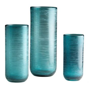 "Cyan Design Libra 14.5"" Glass Vase in Aqua"