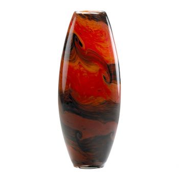 "Cyan Design Italian 11.75"" Glass Vase in Caramel Swirl"