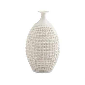 "Cyan Design Diana 14"" Ceramic Vase in Matte White"