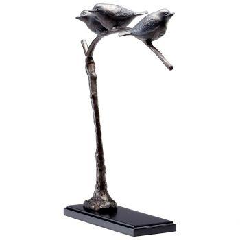 """Cyan Design Birds On A Limb 16.75"""" Sculpture in Bronze Patina"""