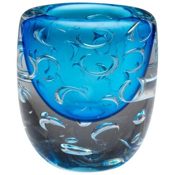 "Cyan Design Bristol 7"" Glass Vase in Cobalt Blue"