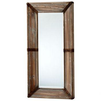 """Cyan Design Williams 39.25"""" Mirror in Raw Iron/Natural Wood"""