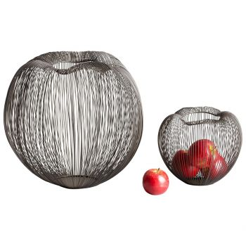 """Cyan Design Anemone 9"""" Container in Graphite"""