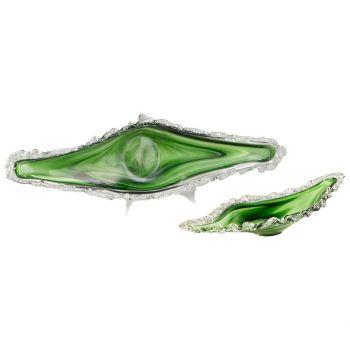 "Cyan Design Dublin 42.5"" Glass Ice Tray in Green/White"