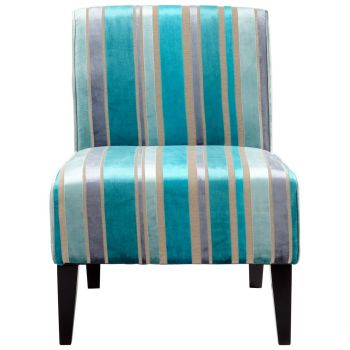 "Cyan Design Ms. Stripy 31"" Chair in Turquoise Blue"
