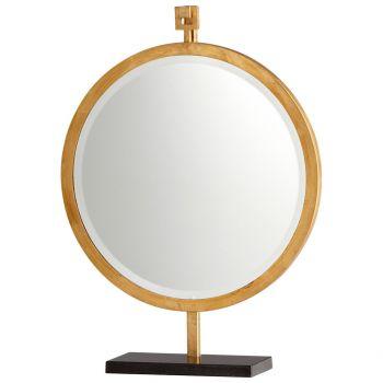 "Cyan Design Westwood 24.25"" Mirror on Stand in Gold Leaf"