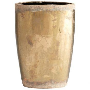 "Cyan Design Rosen 12.5"" Ceramic Planter in Bronze"