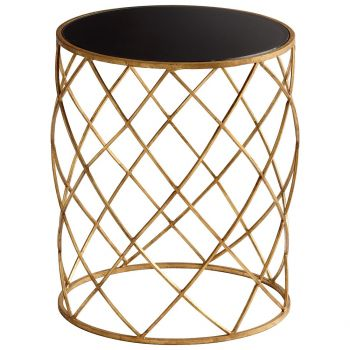 "Cyan Design Wimbley 16.75"" Side Table in Gold"