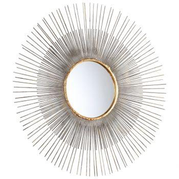 """Cyan Design Pixley 26.4"""" Mirror in Antiqued Silver Leaf"""