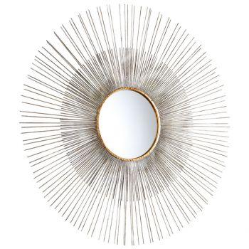 """Cyan Design Pixley 36"""" Mirror in Antiqued Silver Leaf"""
