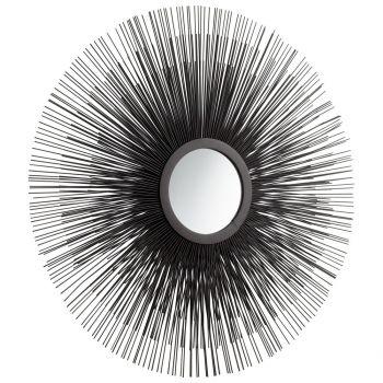 """Cyan Design Triple Solar Flare 24.5"""" Mirror in Graphite"""