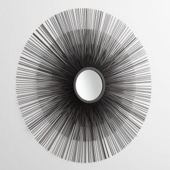 """Cyan Design Double Solar Flare 37"""" Mirror in Graphite"""