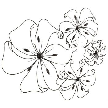 "Cyan Design Fancy Flower 32.25"" Wall Art in Graphite"
