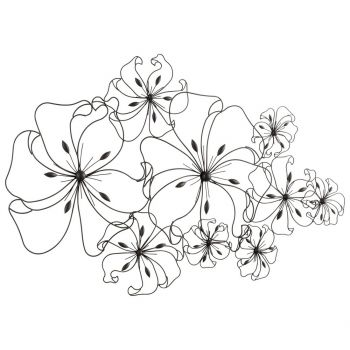"Cyan Design Fancy Flower 52"" Wall Art in Graphite"