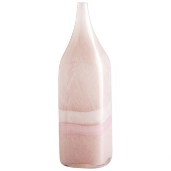 "Cyan Design Tiffany 14"" Glass Vase in Pink/White"