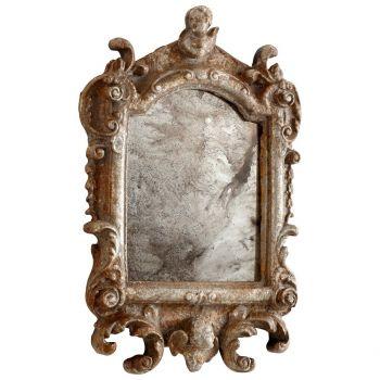 "Cyan Design Guinevere 19"" Mirror in Rustic Silver"
