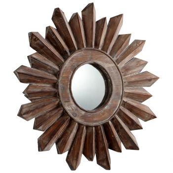 """Cyan Design Excalibur 21.75"""" Mirror in Walnut"""