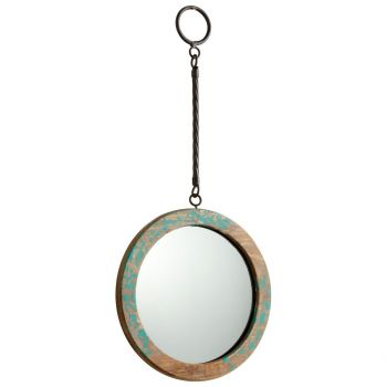 """Cyan Design Through The Looking Glass 19.75"""" Mirror in Ancient Blue"""