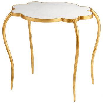 """Cyan Design Flora 23.25"""" Side Table in Gold Leaf"""