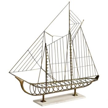 "Cyan Design Sail Away 47"" Sculpture in Rustic"
