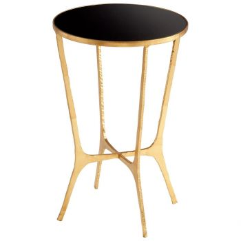 """Cyan Design Floyd 16"""" Glass Top Table in Gold"""