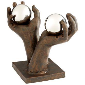 "Cyan Design Past and Future 10.5"" Sculpture in Bronze"