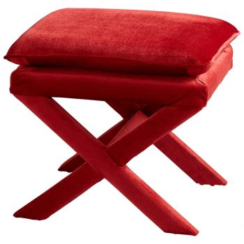 """Cyan Design Otto 21.5"""" Stool in Red"""