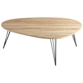 """Cyan Design Lunar Landing 44"""" Coffee Table in Oak Veneer"""