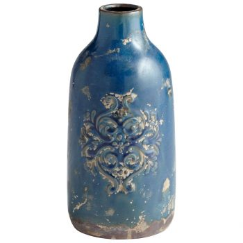 "Cyan Design Garden Grove 10.25"" Vase in Blue Glaze"
