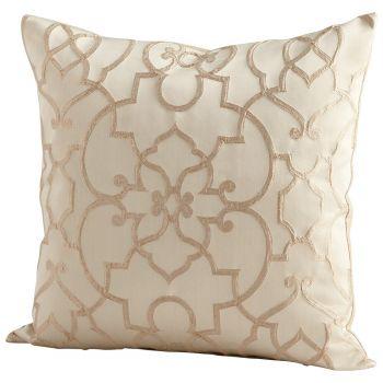 "Cyan Design Royal Celebration 22"" Pillow in Gold"