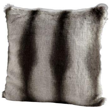 "Cyan Design Pillow 22"" Faux Chinchilla Pillow in Gray"