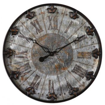 "Uttermost Artemis 24"" Wall Clock in Oil Rubbed Bronze"