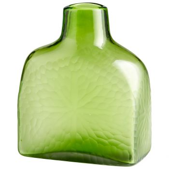 "Cyan Design Marine Green 11.25"" Glass Vase in Green"
