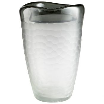 "Cyan Design Oscuro 12.5"" Glass Vase in Gray"