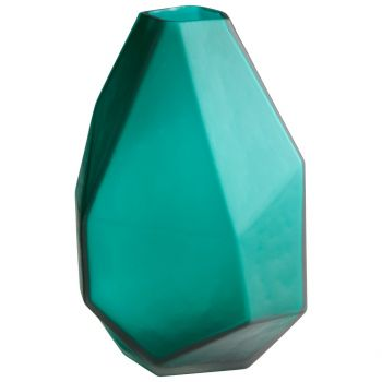 "Cyan Design Bronson 11"" Glass Vase in Green"